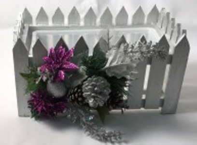 Christmas Planter Box - Silver