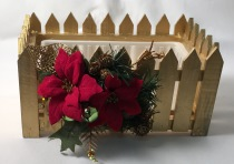 Christmas Planter Box - Gold
