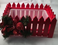 Christmas Planter Box - Red